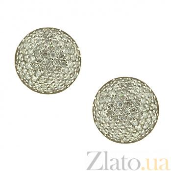 Золотые серьги с бриллиантами Орион 000022002