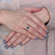 Золотое кольцо с сапфиром Далида