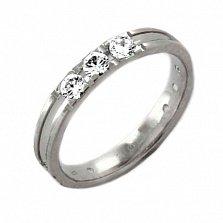 Золотое обручальное кольцо Нежность Эльзы