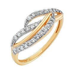 Золотое кольцо с фианитами Жизель 000036409