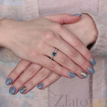 Золотое кольцо с сапфиром Далида PTL--3к604/42