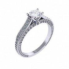 Золотое помолвочное кольцо Турин с бриллиантами
