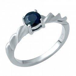 Серебряное кольцо с сапфиром 000074707