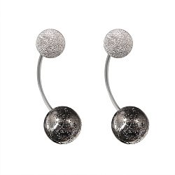 Серебряные серьги-джекеты Космос с чернением