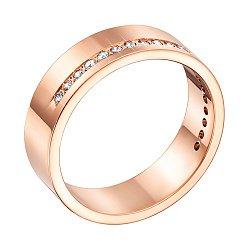 Золотое обручальное кольцо Сладость в красном цвете с фианитами