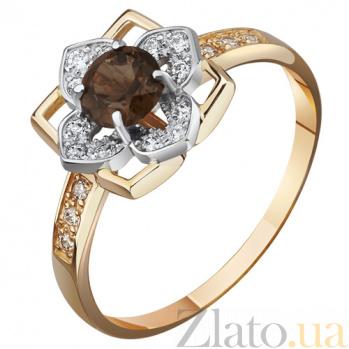 Кольцо из красного золота с раухтопазом Алексис AUR--31736 04