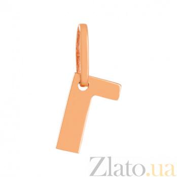 Золотая подвеска Буква Г VLN--314-1731
