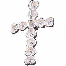 Серебряный крестик Юнона с фианитами