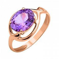 Золотое кольцо Скарлетт с александритом в 4 крапанах