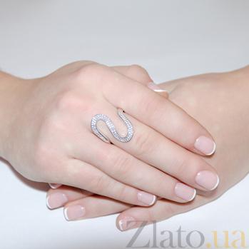 Кольцо с белыми фианитами Киу 2178.1