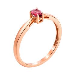 Кольцо из красного золота с рубином 000135386