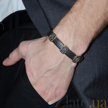 Серебряный браслет Каучук New Style BGS--684/3Б