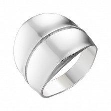 Серебряное кольцо Эделина, покрытое родием