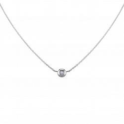 Серебряное колье Гала с бриллиантом
