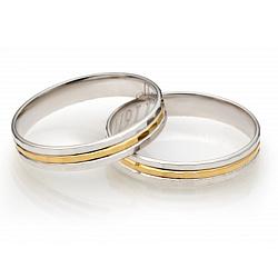 Золотое обручальное кольцо Трогательные чувства