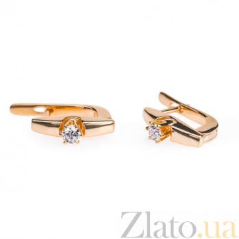 Серьги из красного золота Санторини E 0471-3