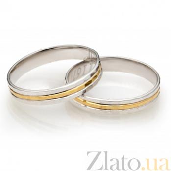 Золотое обручальное кольцо Трогательные чувства SG--21