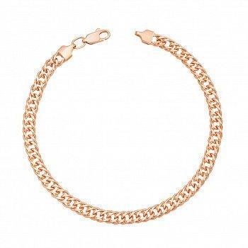 Браслет из красного золота с алмазной гранью 000134703