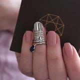 Серебряное кольцо на фалангу Альвента с фианитами