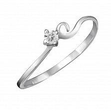 Кольцо из белого золота Ариэль с бриллиантом