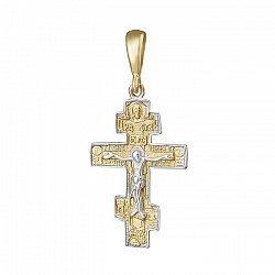 Серебряный крестик Символ вечности с позолотой 000025204