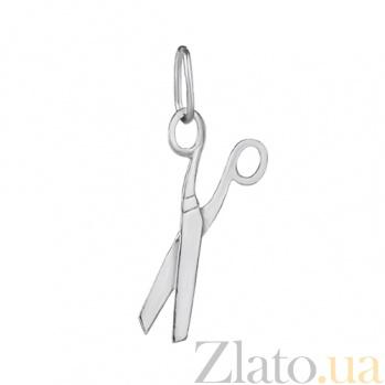 Серебряная подвеска родированная Ножницы LEL--62129