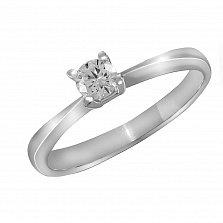 Кольцо из белого золота Совершенство с бриллиантом