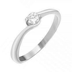 Серебряное кольцо с цирконием SWAROVSKI 000039530