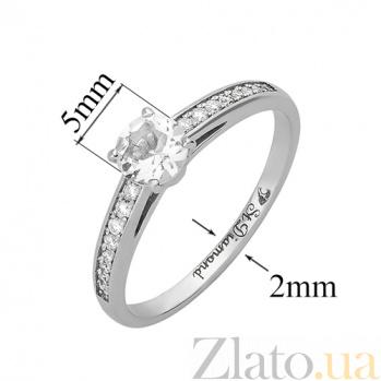 Золотое кольцо с бриллиантами и аквамарином Венец 28649st