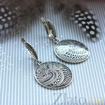 Серебряные серьги Энигма BGS--763с