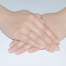 Кольцо из красного золота Тиара