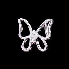 Подвес из белого золота Бабочка с бриллиантами