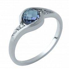 Серебряное кольцо Лозанна с александритом и фианитами