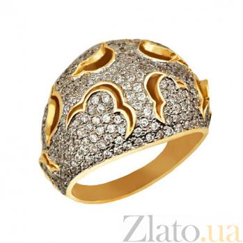 Кольцо из желтого и белого золота Ампир с фианитами VLT--ТТ1022-1