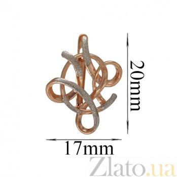 Золотые серьги Вензель TNG--400229