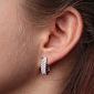 Серьги из белого золота с бриллиантами Джессика E0298