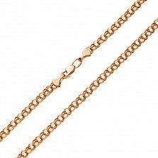 Золотая цепочка Исида в красном цвете с алмазной гранью, 3,5мм