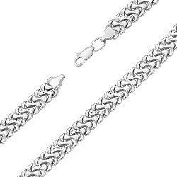 Серебряный браслет в плетении Ролексовое 000135052