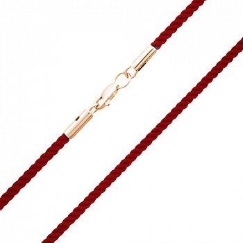 Шелковый крученый браслет Альенте с золотой застежкой, 2мм 000052942