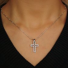 Серебряный декоративный крест Дарин с фианитами