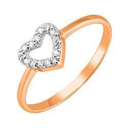 Золотое кольцо с фианитами 000036380