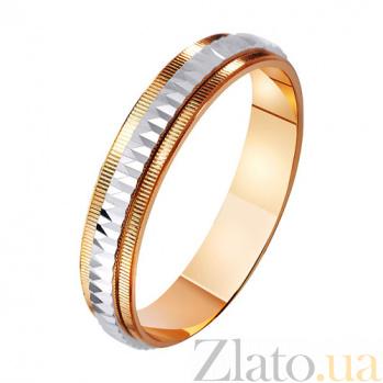 Золотое обручальное кольцо Королева сердца TRF--441087