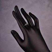 Серебряное кольцо Бесконечность с возможностью регулировки размера