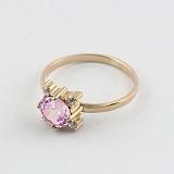 Золотое кольцо с аметистом и фианитами Ванда