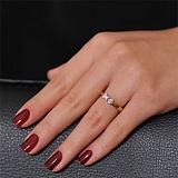 Золотое кольцо с бриллиантами Изабелла