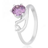Серебряное кольцо Винтуринья с фиолетовым цирконием