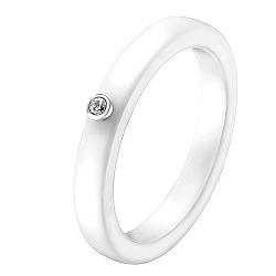 Кольцо из керамики и белого золота Ирма с бриллиантом 000040805