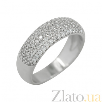 Серебряное кольцо с фианитами Юлия 3К150-0028