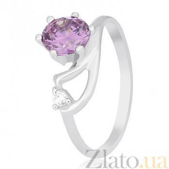 Серебряное кольцо Винтуринья с фиолетовым цирконием 000030955