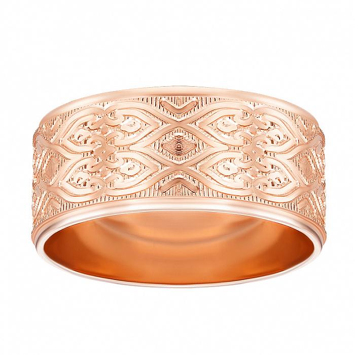 Обручальное кольцо из красного золота с алмазной гранью 000000301 10101/19